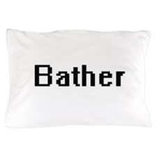 Bather Retro Digital Job Design Pillow Case
