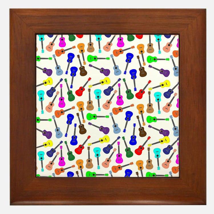 Ukuleles Framed Tile