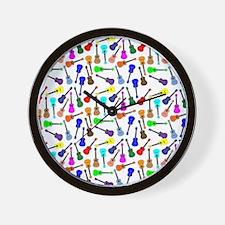 Ukuleles Wall Clock