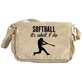 Softball player Canvas Messenger Bags