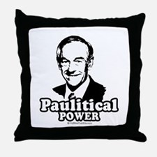 Ron Paul 2008: Paulitical Power Throw Pillow