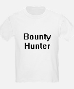 Bounty Hunter Retro Digital Job Design T-Shirt