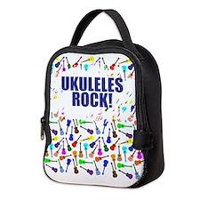 Purple Ukulele Neoprene Lunch Bag