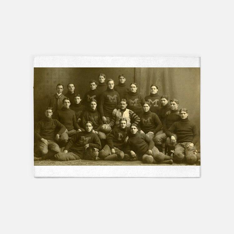 1899 Michigan Wolverines 5'x7'Area Rug