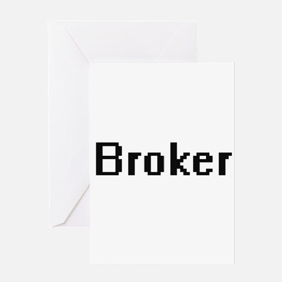 Broker Retro Digital Job Design Greeting Cards