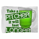 Funny Green Beer Day Pillow Sham