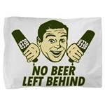 No Beer left Behind Retro Dkst Green.png Pillow Sh