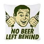 No Beer left Behind Retro Dkst Green.png Woven Thr