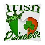 IrishPrincessflag2011.png Woven Throw Pillow
