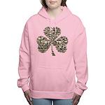 SHAMROCKSKULLSshadow.png Women's Hooded Sweatshirt