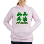 One Of These Things 3d Lined.png Women's Hooded Sw