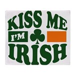 Kiss Me Im Irish.png Throw Blanket
