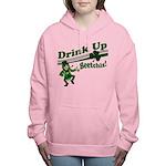drink up beetchizWhite.png Women's Hooded Sweatshi