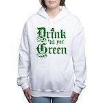 Drintilyergreen2dark.png Women's Hooded Sweatshirt