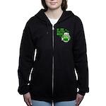 HERE FOR THE GREEN BEER DARK.png Women's Zip Hoodi