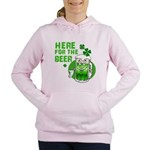 HERE FOR THE GREEN BEER DARK.png Women's Hooded Sw