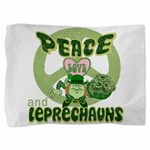 green peace love and leprechauns.png Pillow Sham