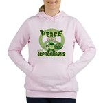 green peace love and leprechauns.png Women's Hoode