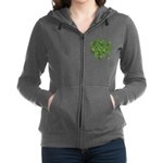 Shamrocks in a Shamrock Women's Zip Hoodie
