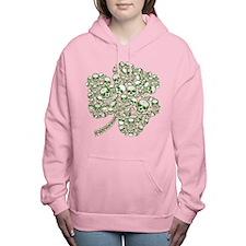 skullwhitefade.png Women's Hooded Sweatshirt