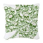 skullwhitefade.png Woven Throw Pillow