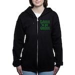Drintilyergreendark.png Women's Zip Hoodie