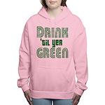 Drintilyergreendark.png Women's Hooded Sweatshirt