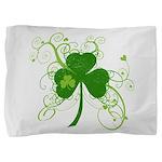 St Paddys Day Fancy Shamrock Pillow Sham