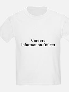 Careers Information Officer Retro Digital T-Shirt