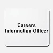Careers Information Officer Retro Digita Mousepad
