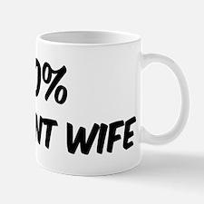 100 Percent Pregnant Wife Mug