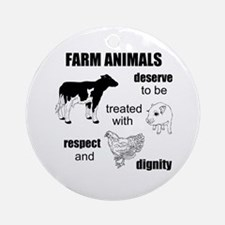 Farm Animals Ornament (Round)