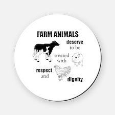 Farm Animals Cork Coaster