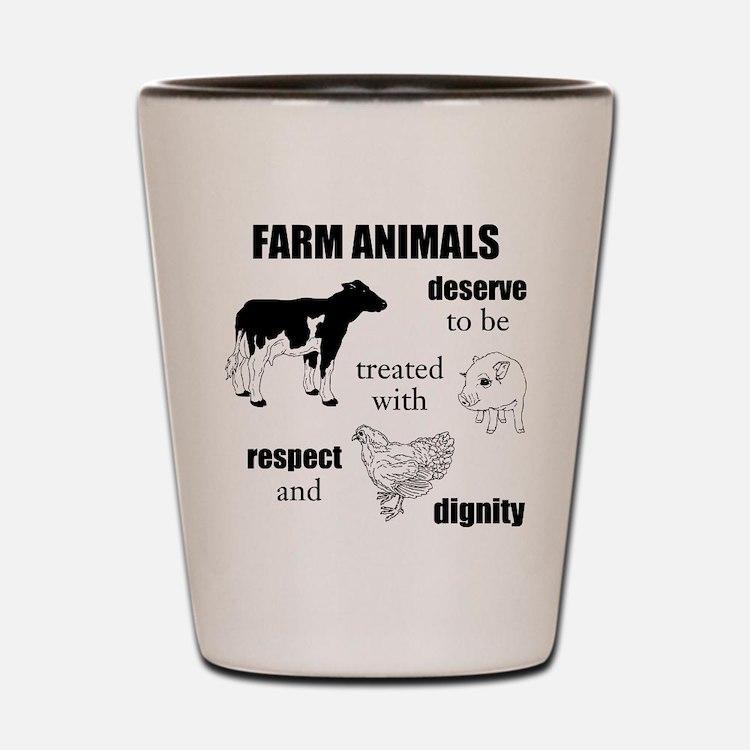 Farm Animals Shot Glass