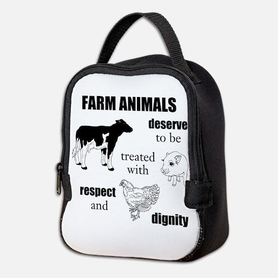 Farm Animals Neoprene Lunch Bag