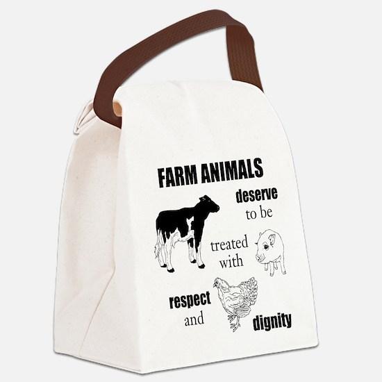 Farm Animals Canvas Lunch Bag