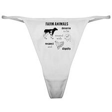 Farm Animals Classic Thong