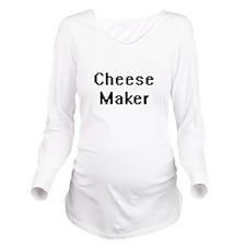 Cheese Maker Retro D Long Sleeve Maternity T-Shirt