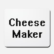 Cheese Maker Retro Digital Job Design Mousepad