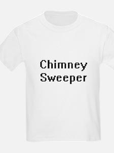 Chimney Sweeper Retro Digital Job Design T-Shirt
