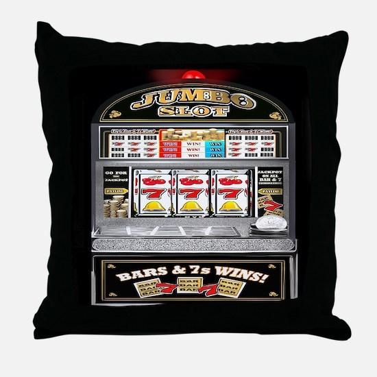 Cute Slot machine Throw Pillow