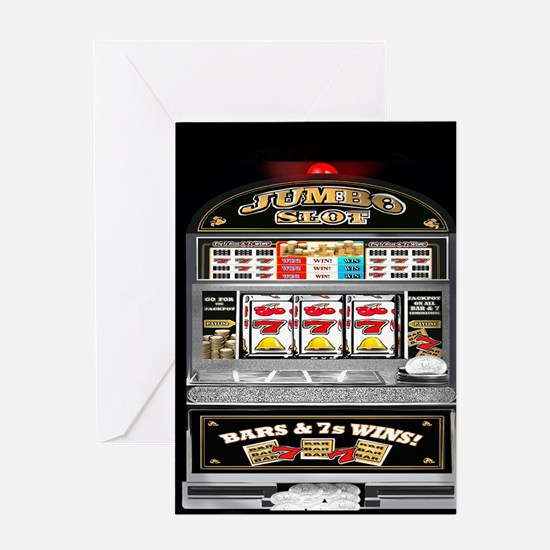 Cute Slot machines Greeting Card