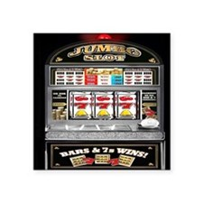 "Funny Slot machines Square Sticker 3"" x 3"""