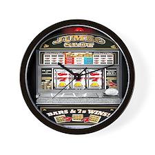 Cute Slot machine Wall Clock