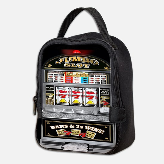 Unique Gambling Neoprene Lunch Bag