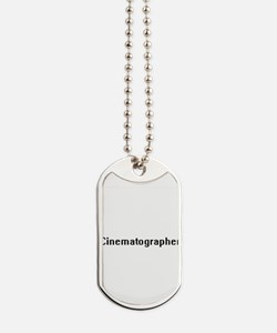 Cinematographer Retro Digital Job Design Dog Tags