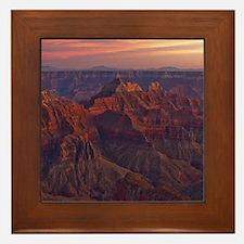 Bright Angel Sunset Framed Tile
