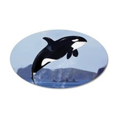 Orca Breaching Wall Decal
