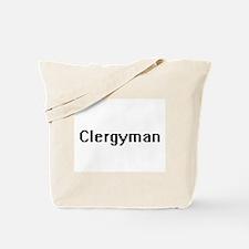 Clergyman Retro Digital Job Design Tote Bag