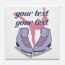 Personalized Ice Skating Tile Coaster